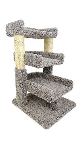 New Cat Condos Premier Triple Cat Perch, Gray