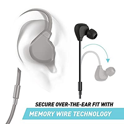 Jarv FLIGHT Sport Wireless In-Ear Bluetooth Ear buds. Water Resistant and Sweat Proof, Around the Ear Featuring Memory Wire Technology for a Secure Fit