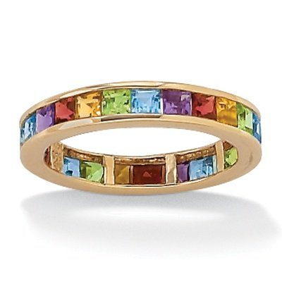 multi gemstone 10k eternity ring citrine gemstone rings