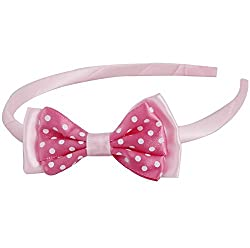 Grograin polka bow hairband kids girls hair accessories
