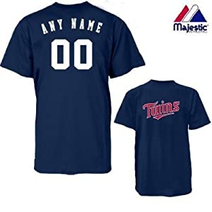 Minnesota Twins Personalized Custom (Add Name & Number) 100% Cotton T-Shirt... by Authentic Sports Shop