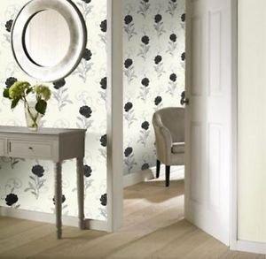 Gran Deco Chealsea Floral Wallpaper - Plain by New A-Brend