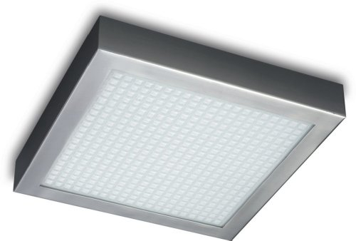 Philips 30198/17/48 Roomstylers Square Flushmount Ceiling Light, Chrome