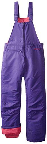 Arctix Insulated Youth Snow Bib Overalls, Purple, Large