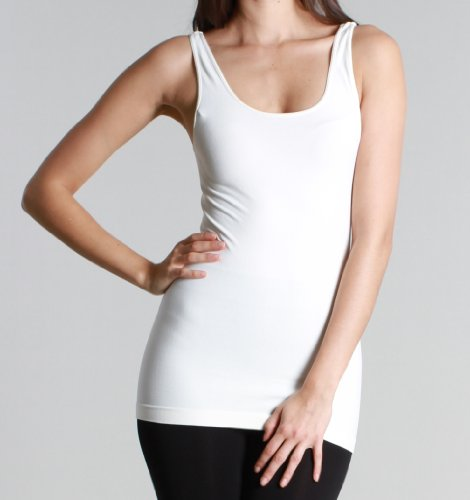 Nikibiki Womens Nylon Plain Jersey Tank Top Shirt (White) (Nikibiki Tank compare prices)