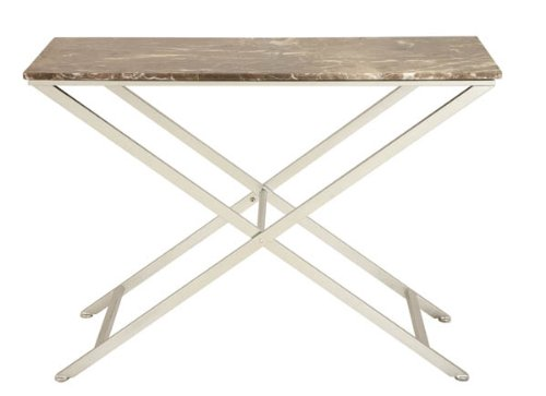Image of Metal Marble Console Table (B00604LXSS)
