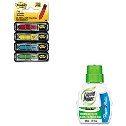 KITMMM684SHPAP7470115 - Value Kit - Paper Mate Liquid Paper Pen amp;amp; Ink Correction Fluid (PAP7470115) and Post-it Arrow Message 1/2amp;quot; Flags (MMM684SH)