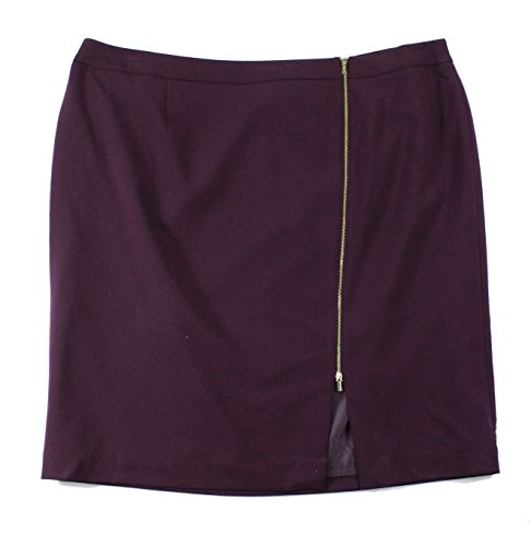 Calvin Klein Womens Plus Straight Pencil Skirt Purple 18W