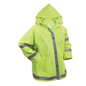 Safety Green Reflective Rain Jacket by Rothco