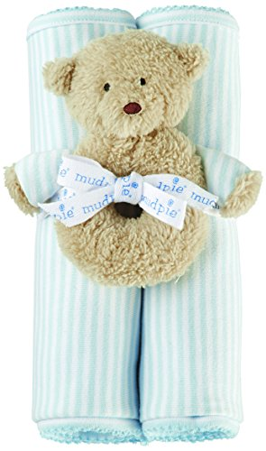 Mud Pie Receiving Blanket and Rattle Set