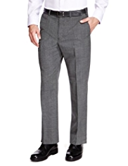Wool Blend Supercrease™ Active Waistband Flat Front Trousers