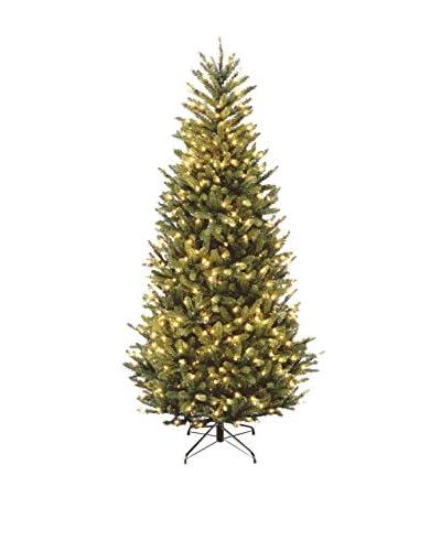 National Tree Company 7.5' Natural Fraser Slim 600-Light Fir Hinged Tree