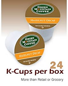 Green Mountain Coffee Hazelnut Decaf K-cups For K