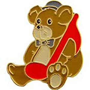 Music Note Teddy Bear Pin 1""