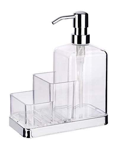 wenko-54710100-clarido-porta-attrezzi-per-sapone-porta-spugna-trasparente-165-x-83-x-198-cm