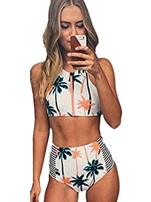 Zelura Sexy-temptation Women's Resort Halter One-piece Bikini