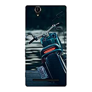 Enticing Cruise Bike Multicolor Back Case Cover for Sony Xperia T2