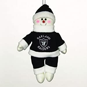 SC Sports Oakland Raiders Plush Snowflake Friend Set of 2 by SC Sports