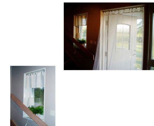 Stainless Steel Curtain Drape Wire Rod Set Multi Purpose