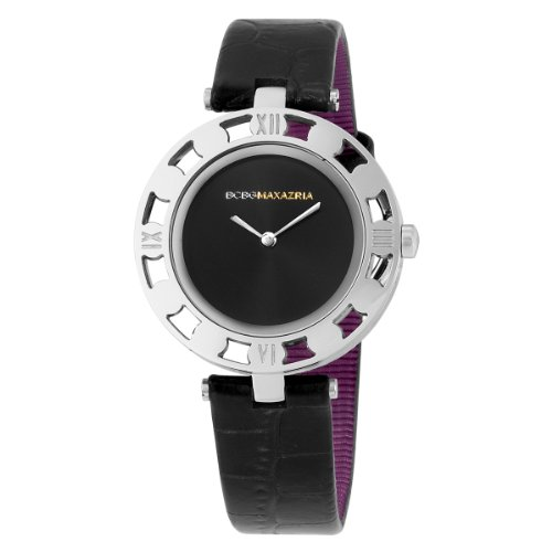 BCBGMAXAZRIA Ladies Watch BG6279 with Black Leather Strap