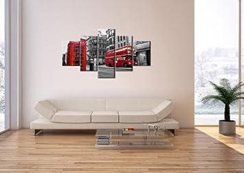 3 impression sur toile 125x70 cm image sur sur toile 5 parties encadr e. Black Bedroom Furniture Sets. Home Design Ideas