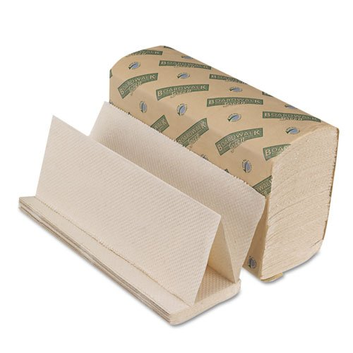 Boardwalk Products - Boardwalk - Green Folded Towels, Multi-Fold, Natural White, 9 1/8 x 9 1/2, 200/Pack, 20/Ctn - Sold As 1 Carton - Protect the planet with these towels made entirely from recycled materials. - Soft, embossed design. -