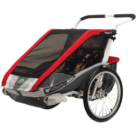 Chariot Cougar2 Deluxe 2 Child CTS Adventure Carrier (Chassis only) - Red