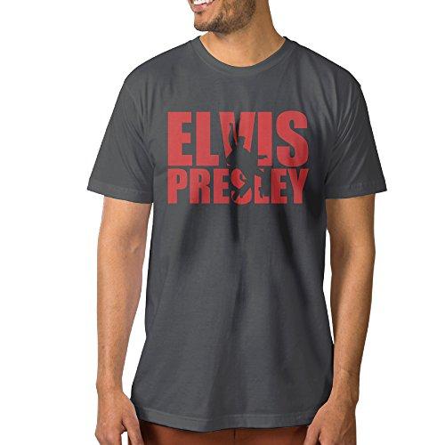 NCKG Men's Elvis Presley Short Sleeve Shirti, Color DeepHeatherSize S
