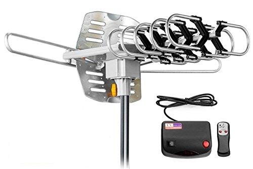 TV Antenna Outdoor Amplified - Motorized 360 Degree Rotation - Digital HDTV Antenna - 150 Miles Range - Wireless Remote