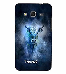 PrintVisa Zodiac Taurus 3D Hard Polycarbonate Designer Back Case Cover for Samsung Galaxy Core Prime G360