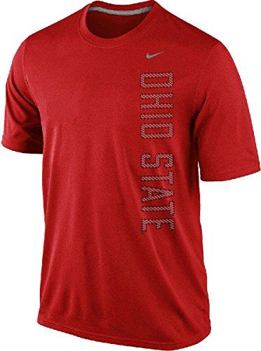 Nike Ohio State Buckeyes Men's Dri-FIT Vertical Graphic Legend T-Shirt (Medium, Red)
