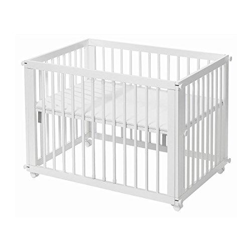 easy baby laufgitter beistellbett 6in1 sleep play wei inkl matratze. Black Bedroom Furniture Sets. Home Design Ideas