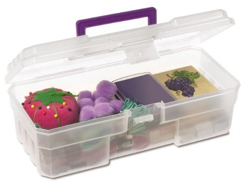 Akro-Mils 09912 CLPUR 12-Inch Plastic Art Supply Craft Storage Tool Box, Semi-Clear (Art Supply Box compare prices)
