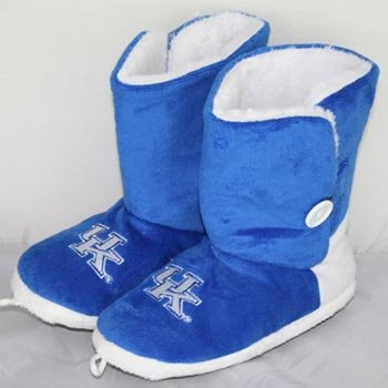 Kentucky Wildcats Womens Team Color Button Boot Slippers