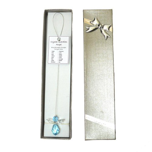 Crystal Guardian Angel suncatcher, Gift-Boxed - Blue (Peace)
