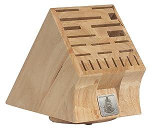 Messermeister 22 Slot Swivel Base Wood Knife Block by Messermeister