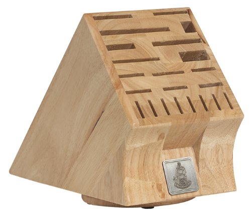Messermeister 22-Slot Swivel Base Wood Knife Block