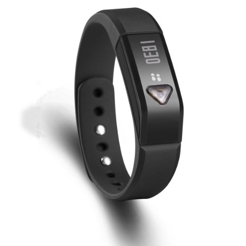 Vidonn X5 IP67 Bluetooth V4.0 Pedometer Smart Wristband Bracelet with Sports & Sleep Tracking Compatible with iphone App Store / PCs Your Gallery B00KQHIJPK