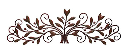 Scrolling Metal Olive Branch Over the Door Wall Decor 48 In. (Over Door Decor compare prices)