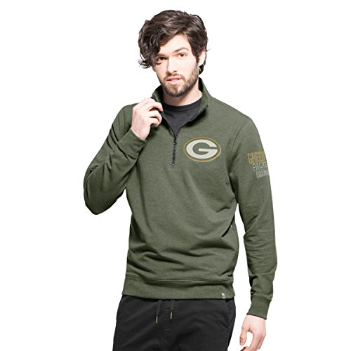 NFL Green Bay Packers Men's '47 Forward Peak 1/4-Zip Pullover, Shift Green, Small (Seven Peaks compare prices)