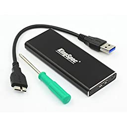 Kingspec M.2(NGFF) to USB 3.0 External SSD Enclosure Conveter Case with Cable