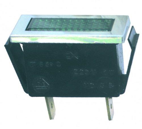 Lampe,Kontroll- grün, rechteckig
