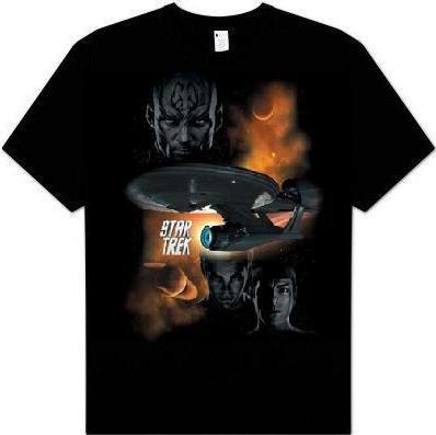 Star Trek XI 2009 Movie 'Galactic Strle' black t-shirt (X-Large)