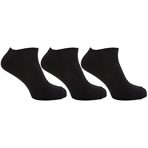Mens-Plain-Trainer-Socks-Pack-Of-6