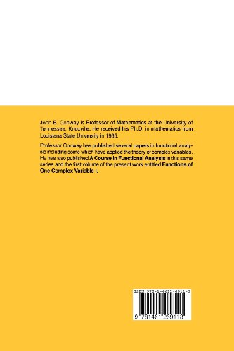 Functions of One Complex Variable II: Volume 2 (Graduate Texts in Mathematics)