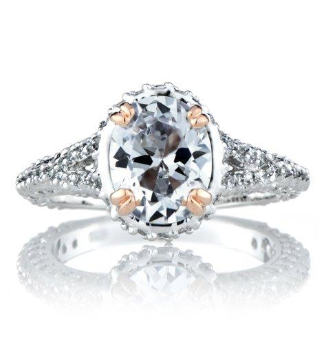 Celebrity Star Emitations Kat's Pave CZ Wedding Ring Set Size 4