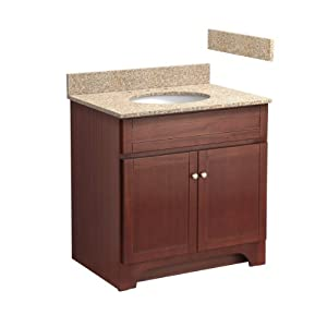 Foremost Cocat3021 8w 30 Inch Columbia Bathroom Vanity Combo With Wheat Beige Granite Top Pre