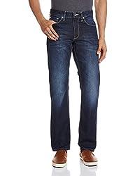 Breakbounce Men's Straight Jeans (8907066081320_Mareth_36W X 32L_Indigo)