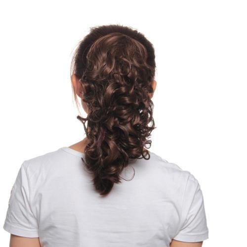 DatConShop(TM) 32cm Lady Claw Clip in Brown Curly Pony Tail Hair Extension Curling Hairpiece