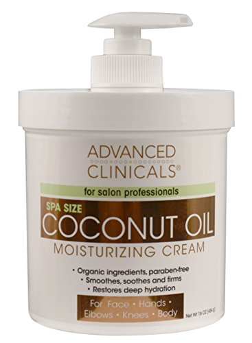 Advanced Clinicals Coconut Moisturizing Cream 16oz